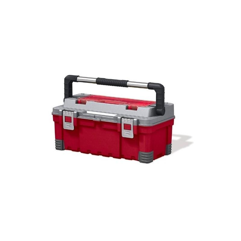 KETER KETER kufřík HAWK EXTRA, 66 x 28,7 x 26,6 cm, červená/šedá/černá, 17181010