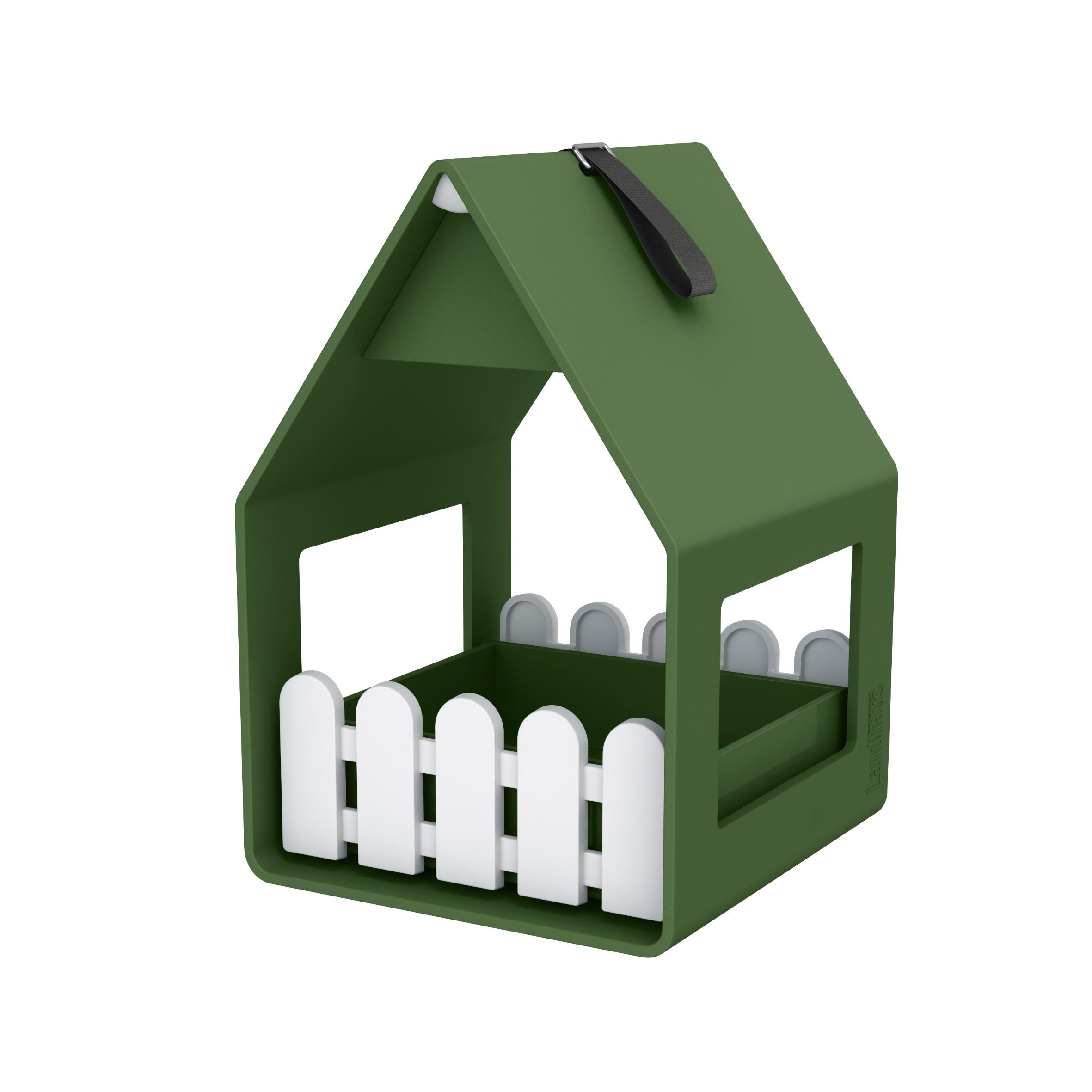 EMSA Krmítko a pítko pro drobné ptactvo 14 x 21 tmavě zelené Landhaus Emsa