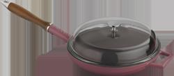 LAVA Metal Pánev litinová s víkem, červená Ø 28 cm LAVA Metal