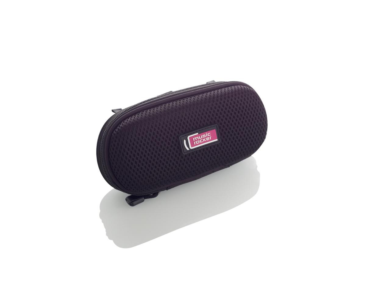 MusicRocker Kapsička s reproduktory pro mobilní telefon Music 2 Go - černý MusicRocker