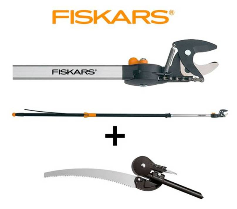 FISKARS Nůžky zahradní housenice 6,5 M Fiskars 115560 + prořezávací pilka UP80 Fiskars 110950