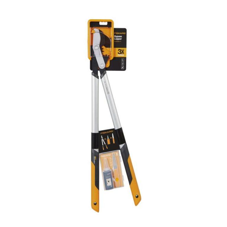 FISKARS Nůžky na silné větve LX98 PowerGearX + souprava na údržbu zahradních nůžek - SET Fiskars 1020687