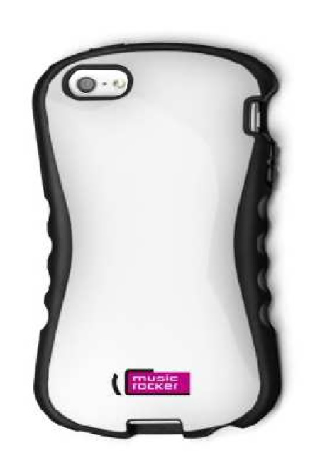 Ochranný obal iPhone 5 MusicRocker SC One - bílý