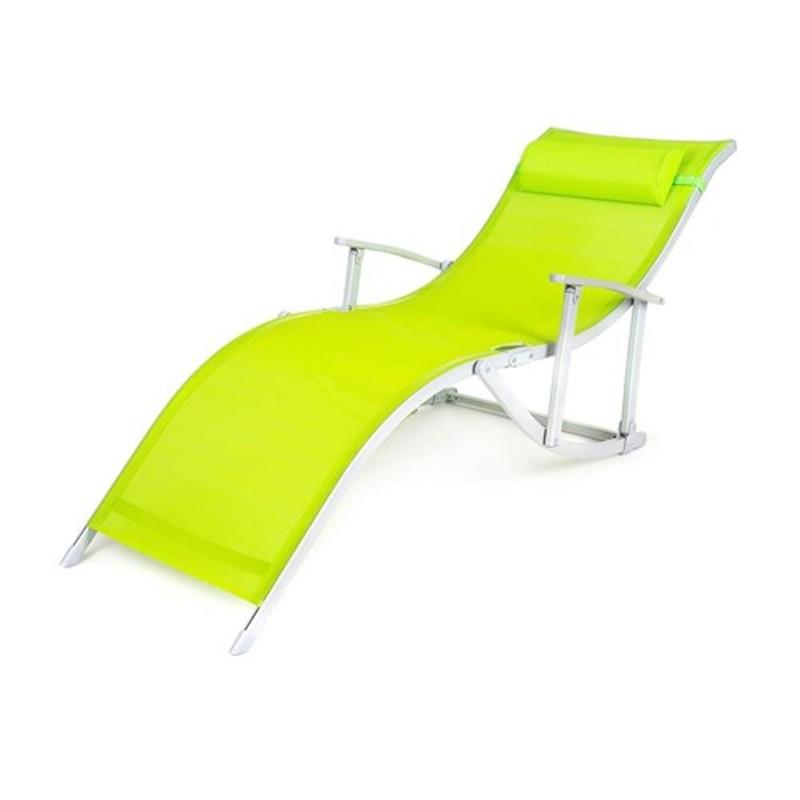 Plážové lehátko CANARIA ALU, světle zelené