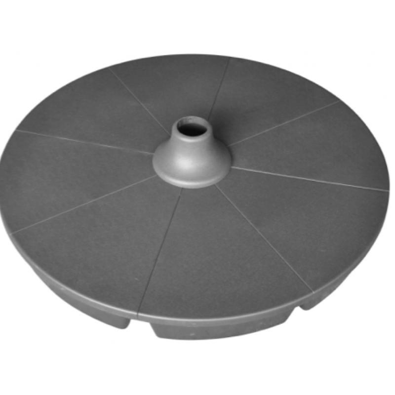 Podstavec pod slunečník PLAST 90 cm - tmavě šedý