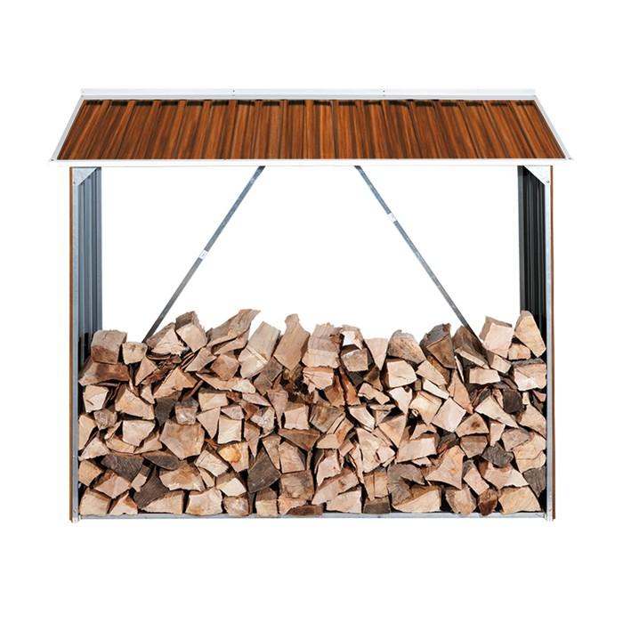 DURAMAX Přístřešek na dřevo plechový DURAMAX 7159 - imitace dřeva
