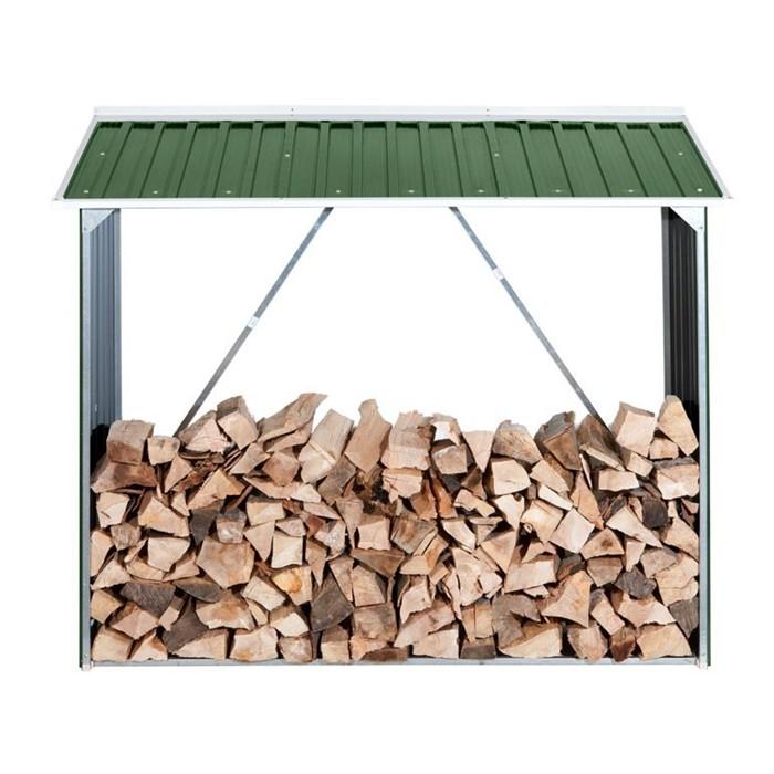 DURAMAX Přístřešek na dřevo plechový DURAMAX 7147 zelený
