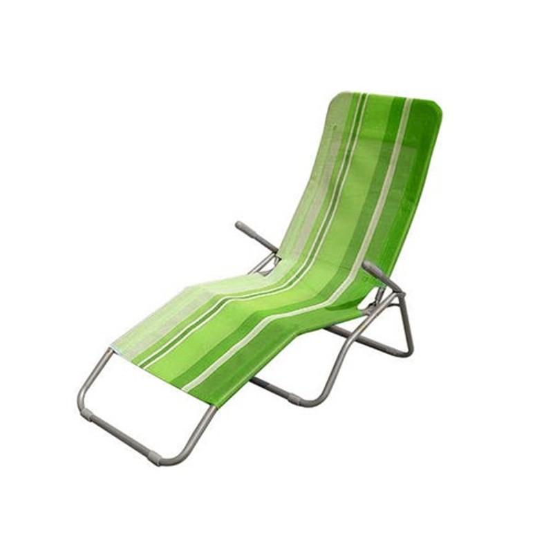 Happy Green Relaxační plážové lehátko ZELENÝ PRUH