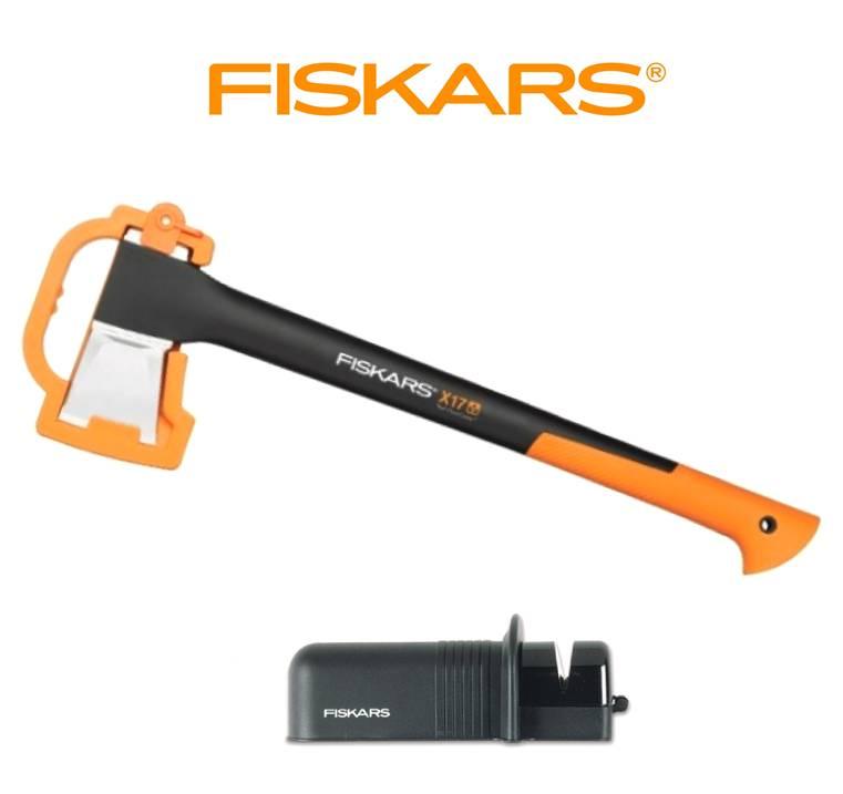 FISKARS Sekera FISKARS štípací X17 - M 122463 + ostřič Solid - Set Fiskars 122463 a 120005