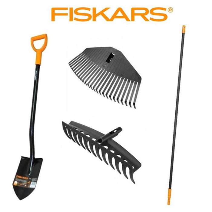FISKARS SET Fiskars 4 ks 1x rýč + 2x hrábě + 1x násada