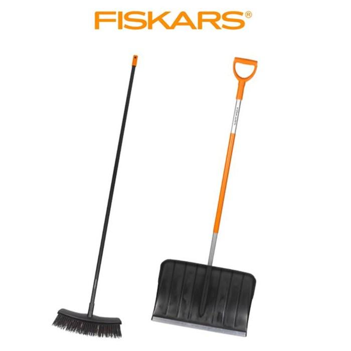 FISKARS Hrablo SnowXpert Fiskars 143001 a koště Fiskars 135541 sada