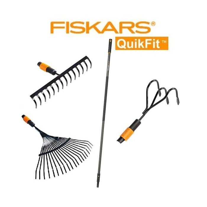 FISKARS SET kovových hrábí Fiskars QuikFit 3+1