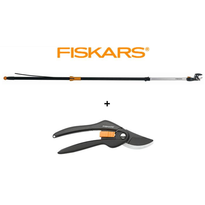 FISKARS SET nůžky zahradní univerzální 6,5 M + nůžky SingleStep dvoučepelové FISKARS 115560+111260