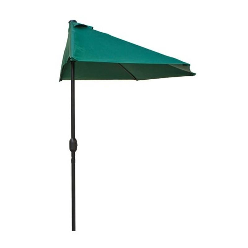Happy Green Slunečník půlkruhový 270 x 135 cm, tmavě zelený