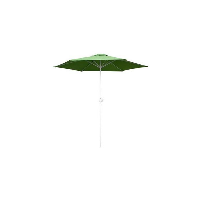 Happy Green Slunečník s kličkou 230 cm - světle zelený