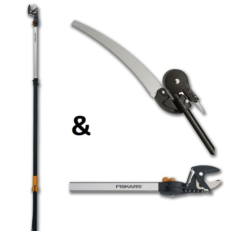 FISKARS Teleskopické nůžky UP86 + pilka prořezávací UP80 - SET Fiskars 1001641