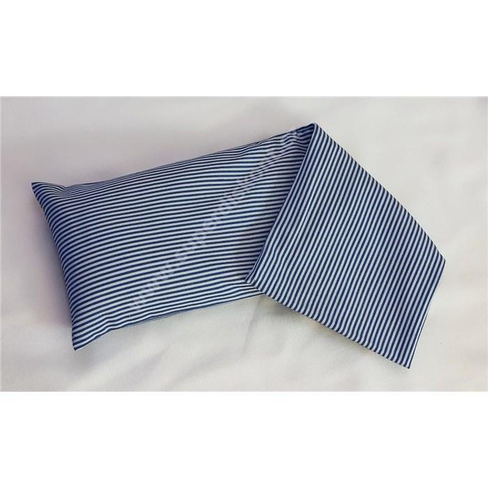MAZEL Termo polštářek Mazel kanafas modrý proužek