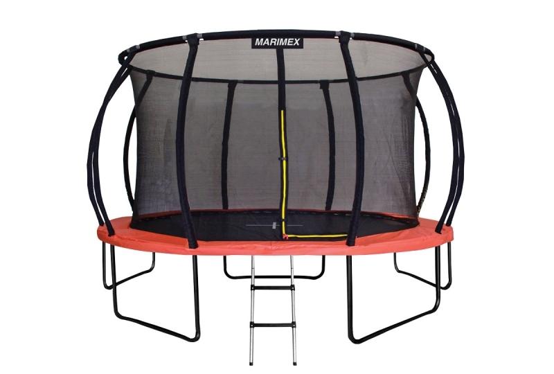MARIMEX Trampolína Premium 457 cm + vnitřní ochranná síť + schůdky Marimex 19000060