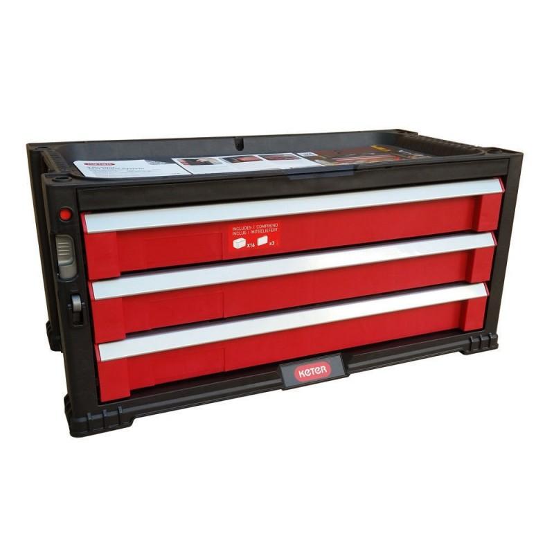 KETER Úložný box na nářadí 56x29x26 cm KETER - 3 zásuvky 17199302