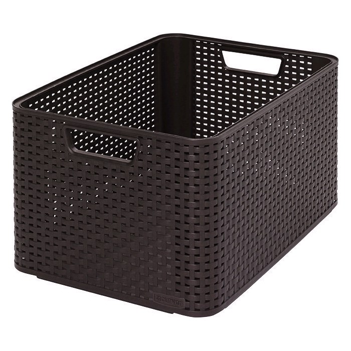 CURVER Úložný box RATTAN Style2 L - hnědý