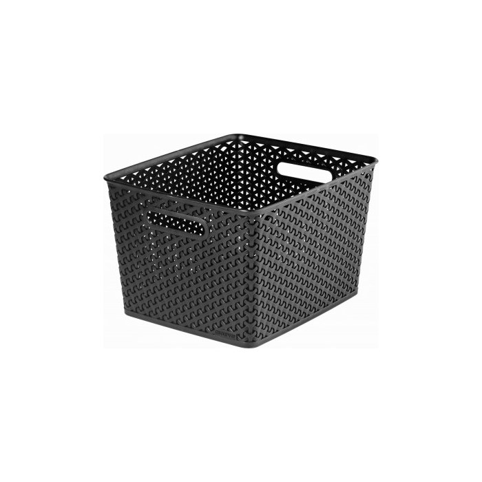 CURVER Úložný box RATTAN Y STYLE L černý 03612-101
