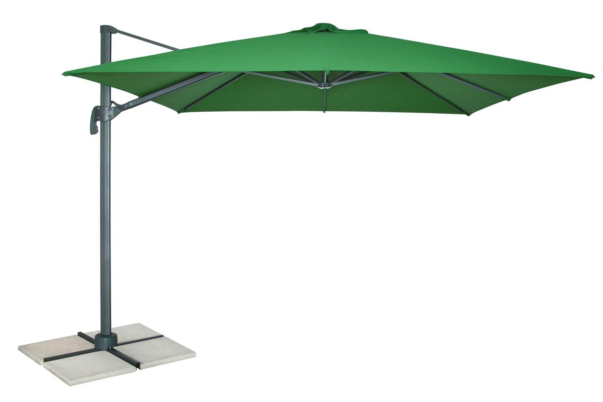 DOPPLER Výkyvný slunečník DOPPLER Ravenna 3x3 m zelený